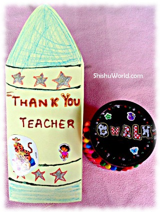 Teacher's Day Carft- Chalk Box and Greeting Card