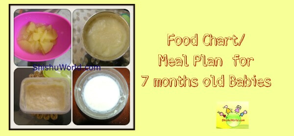 7 month baby food chart meal plan for 7 months baby 7 months baby food chart indian forumfinder Choice Image