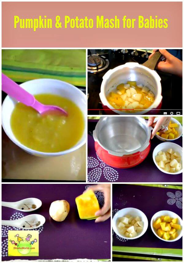Pumpkin and Potato puree for babies