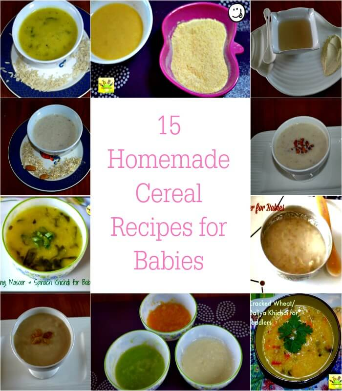 15 Homemade Cereal Recipes for Babies & Toddlers| Lunch & Dinner ...