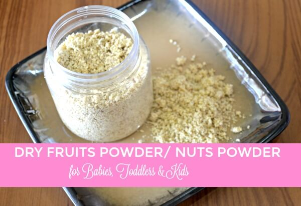How to make dry fruit powder for babies
