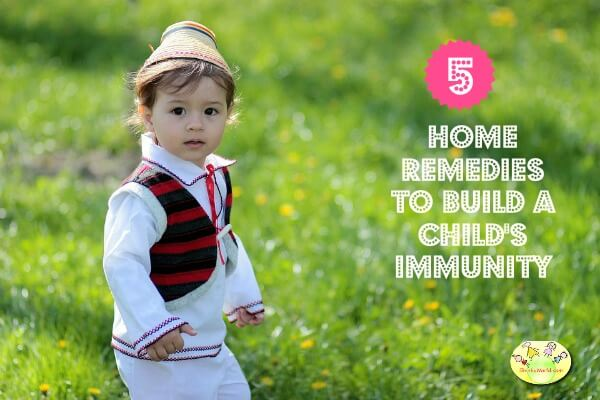 5 home remedies to build child's immunity