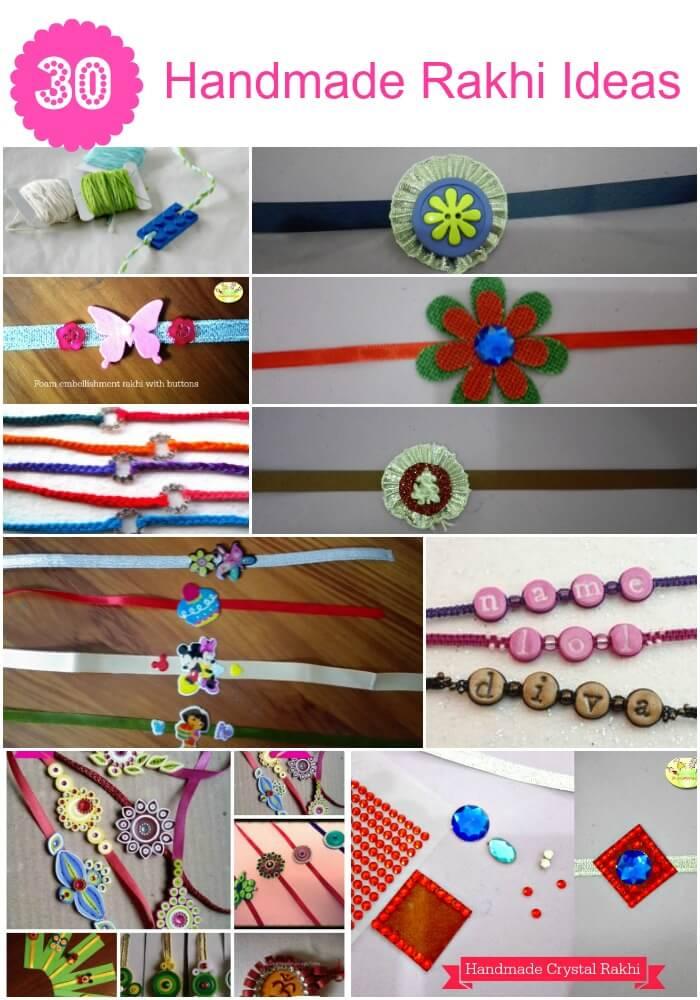 30 Handmade Rakhi Ideas- Easy DIY rakhi for kids
