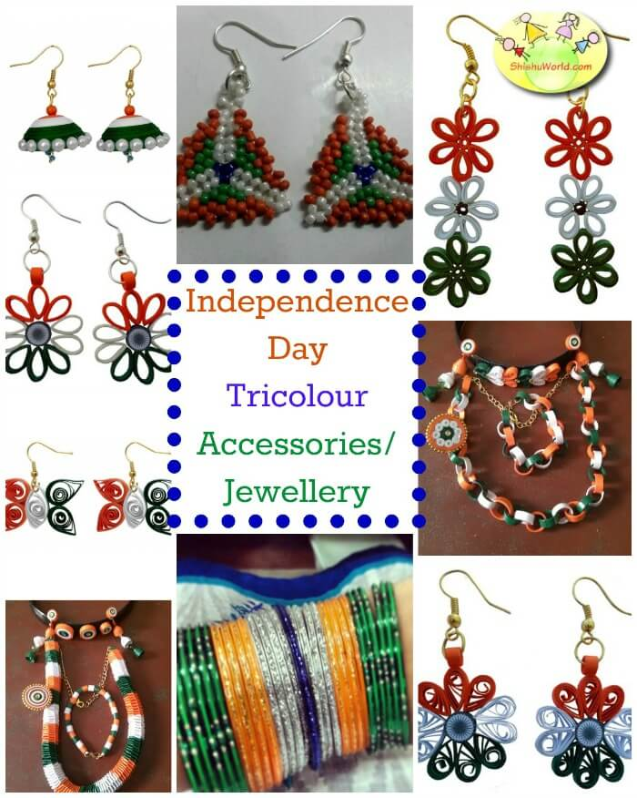 Independence day tricolour jewellery / accessories