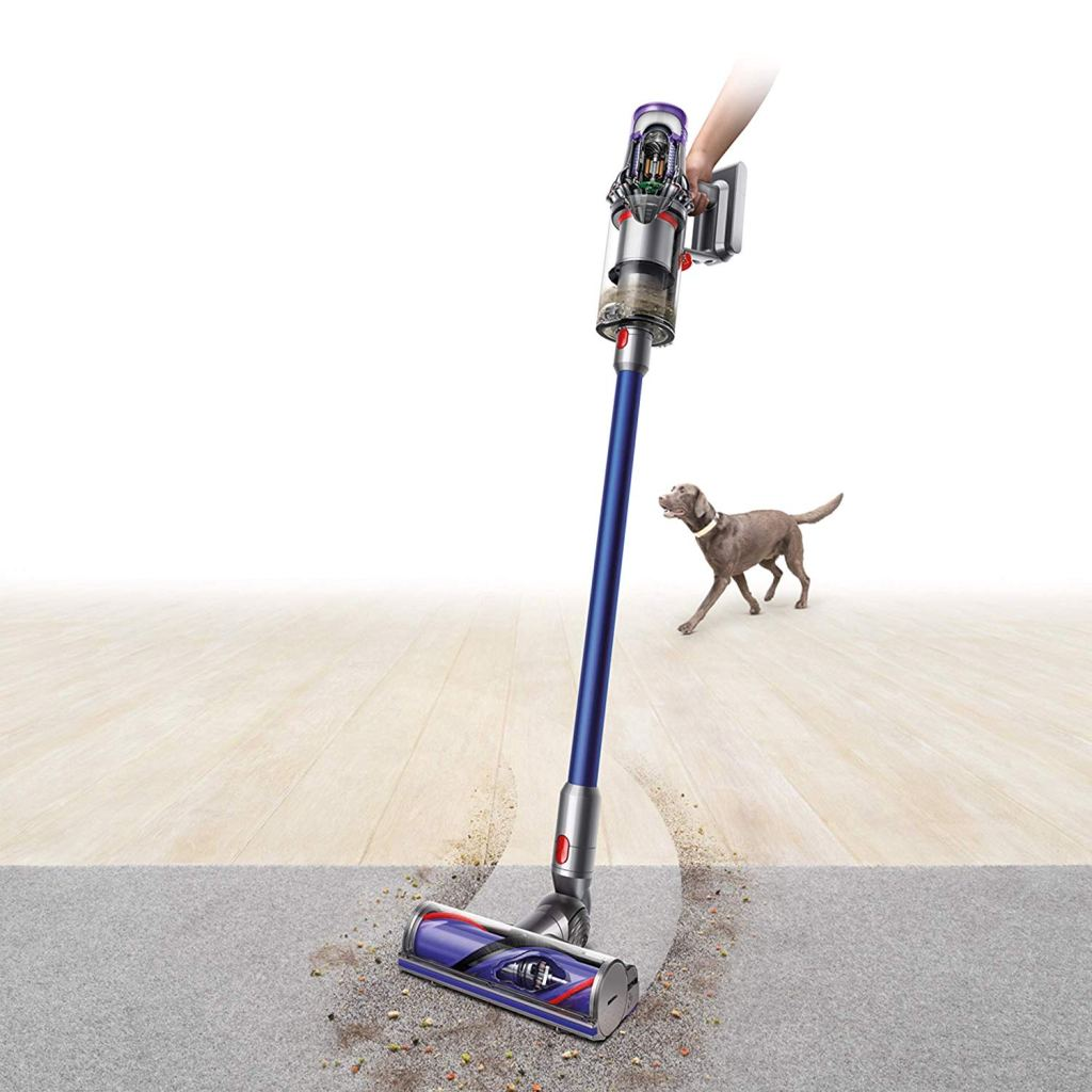dyson vacuum moving from floor to carpet