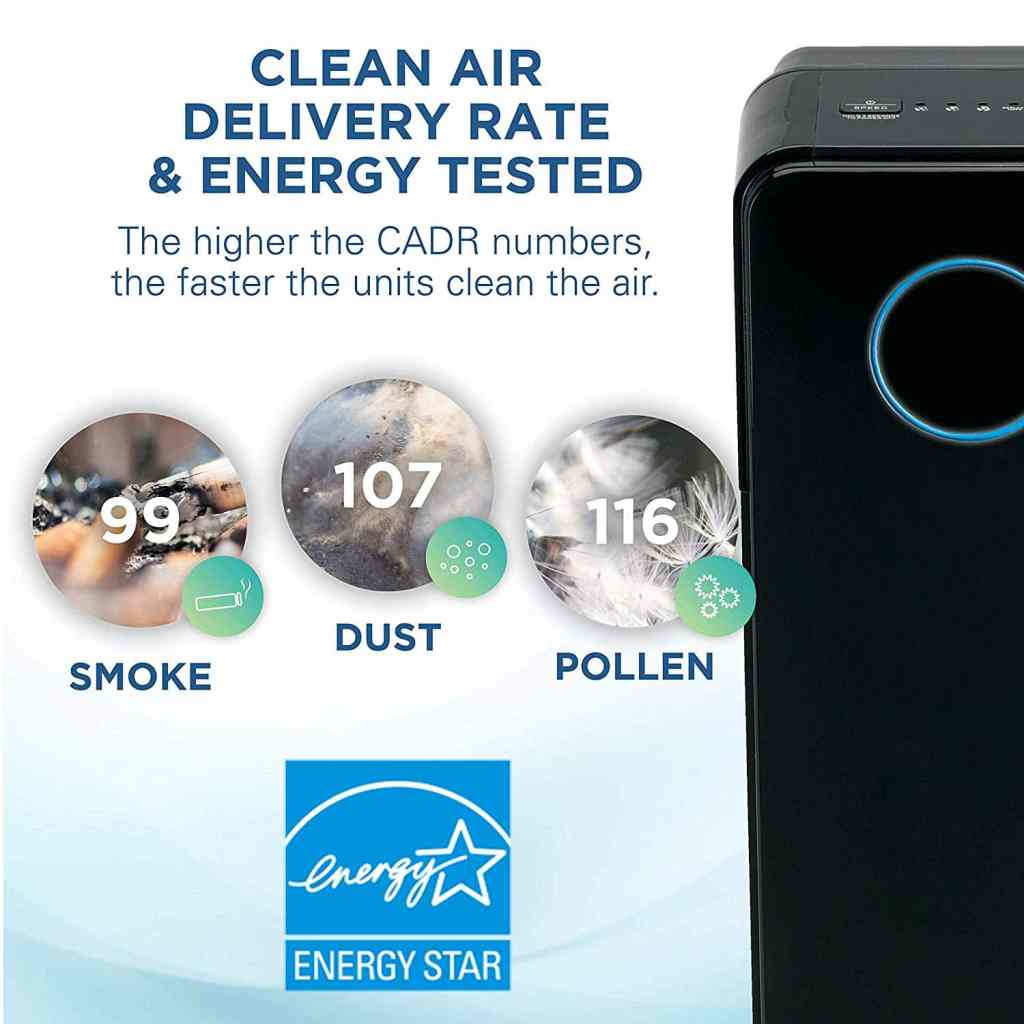 graphic shows air urifier removes smoke dust and pollen