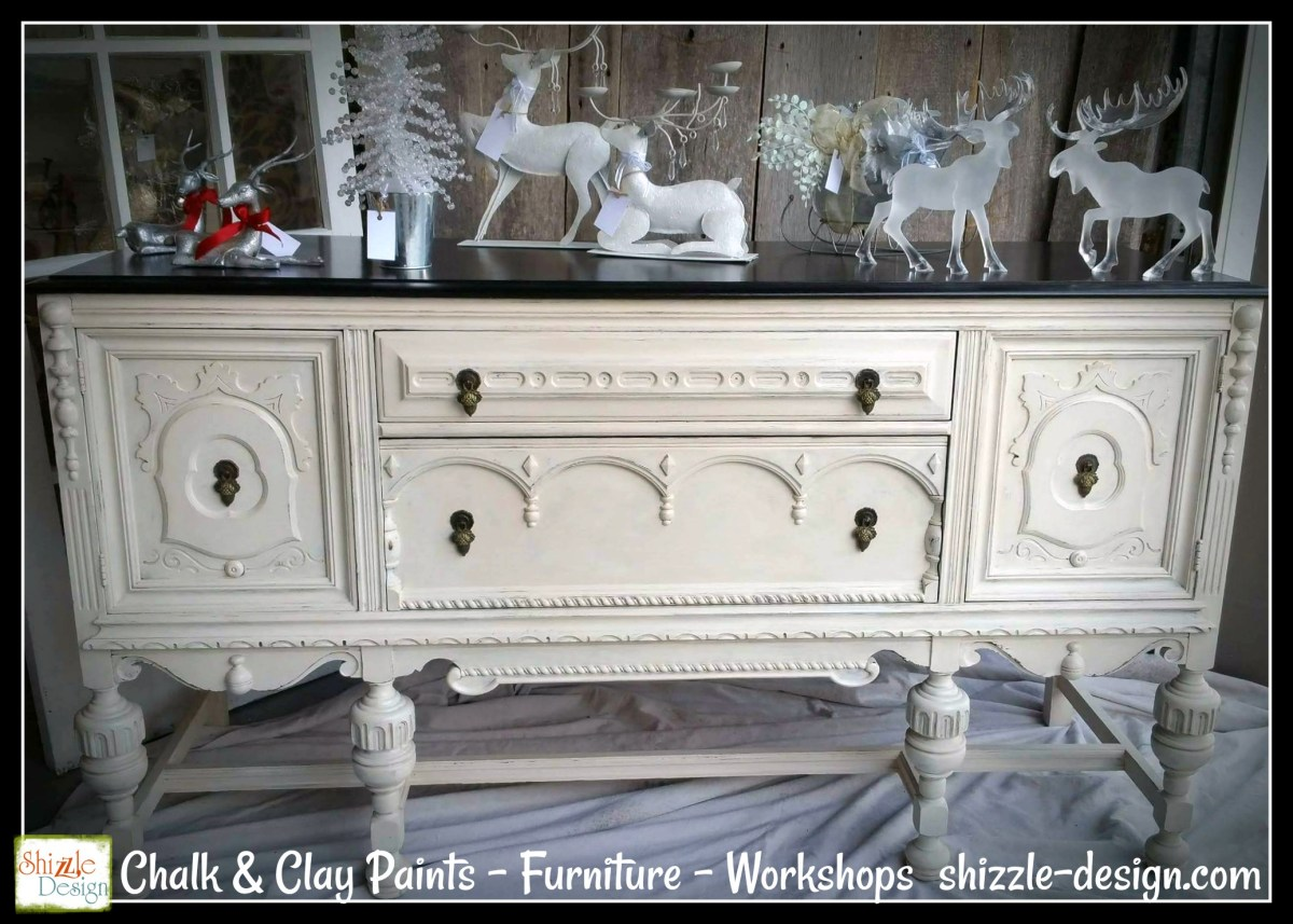 Shizzle Design Beautiful Antique Buffet Refinished In