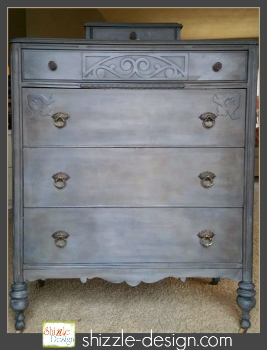 Old School Gray Chalk Clay Paint, Gray Furniture Paint