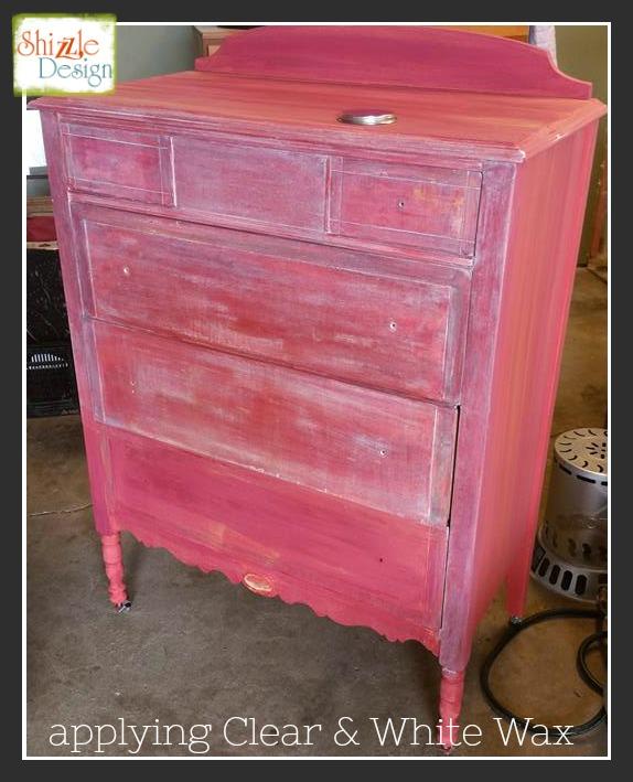 shizzle design pretty in pink antique dresser makeover rh shizzle design com