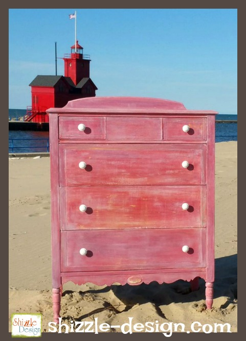 shizzle design pretty in pink antique dresser makeover