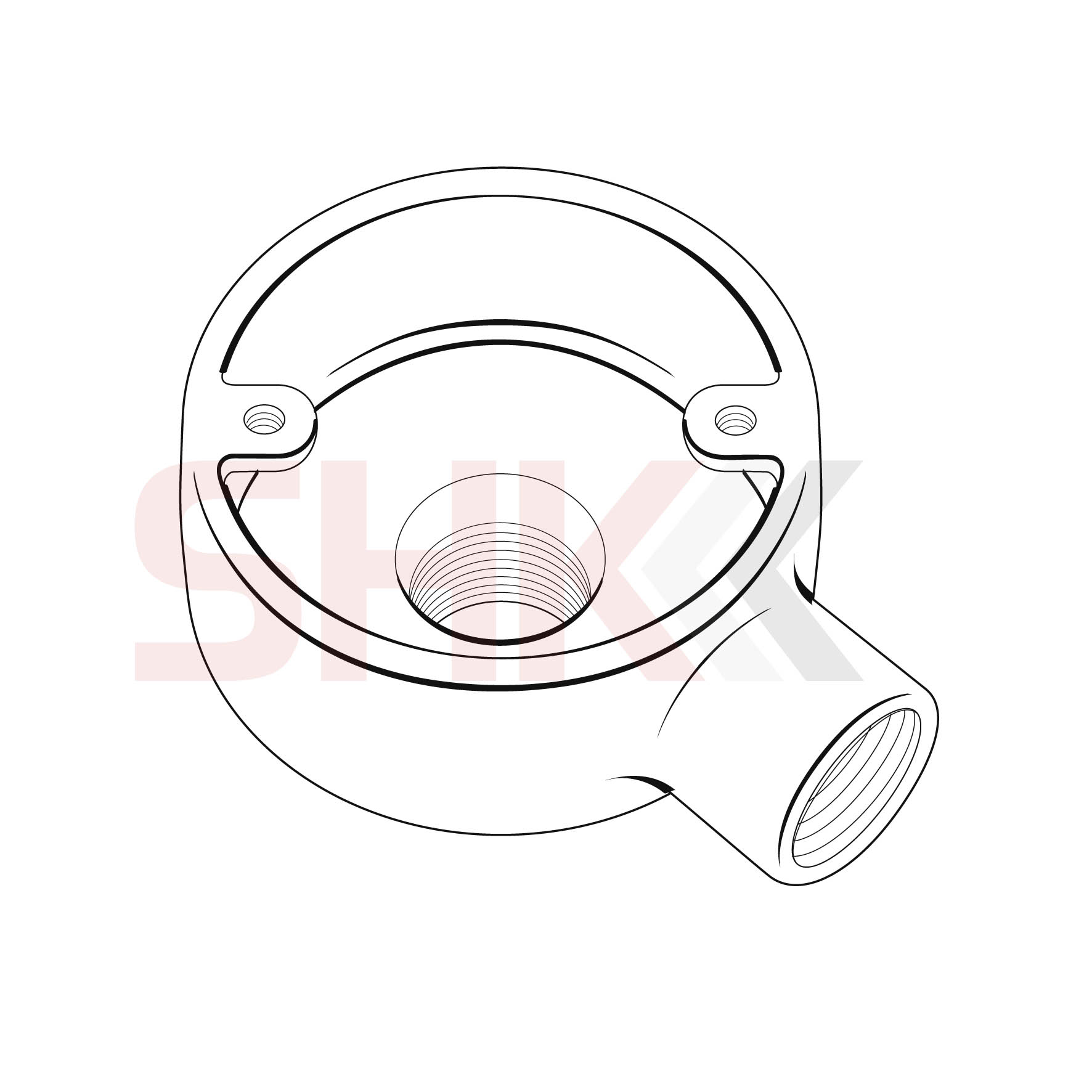 25mm Circular Junction Box Back Outlet 1 Way Terminal