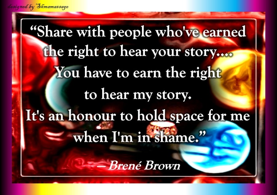 Quote Brené Brown, designed by Shmamassage, massagepraktijk exclusief voor Vrouwen