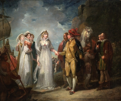"""The Arrival of the Princess of France"" - Thomas Stothard (1834)"