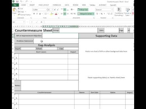 Countermeasure Worksheet Template Download