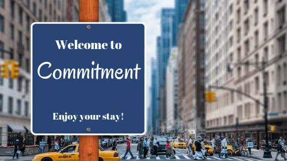 commitment signboard