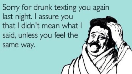 drunk text to ex - Top 5 texts not to send to your ex... EVER!