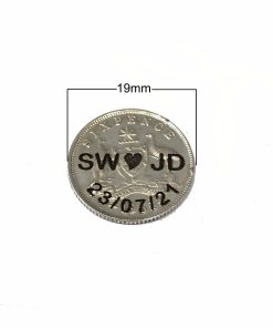Lucky Wedding Australian Sixpence
