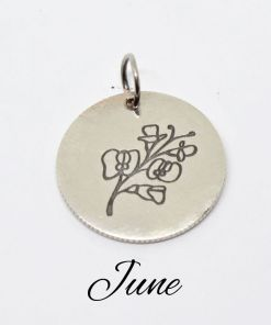 Junes Native Birth Flower Pendant