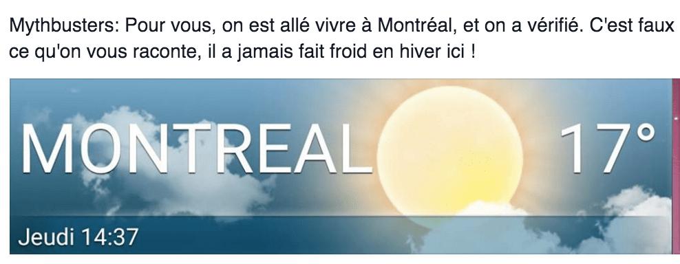 Météo 24 decembre à Montréal