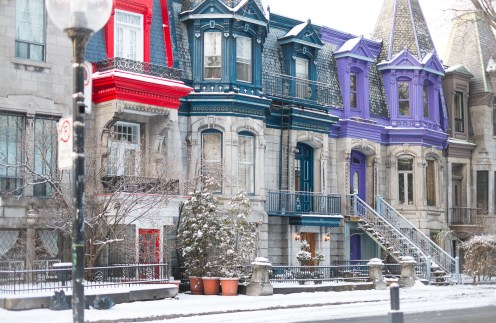 montreal neige mtl hiver architecture