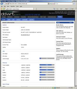 Airlink DD-WRT screenshot