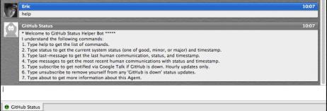GitHub Status Bot - Help