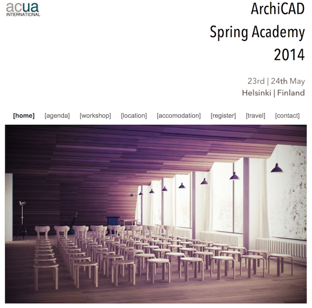 ACUA SPRING ACADEMY 2014: Geekout to ArchiCAD in Finland