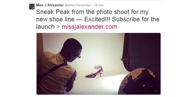 Miss J Alexander lanceert schoenencollectie. Coach America's Next Topmodel Miss J Alexander lanceert eigen schoenencollectie. Bekijk de sneak peak.