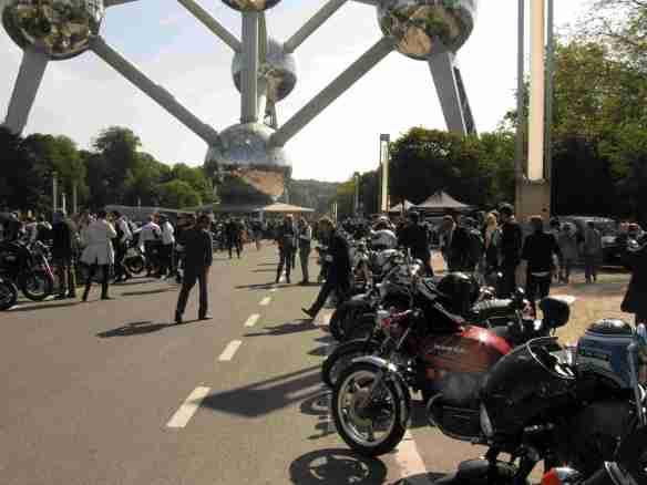 Riders at the Atomium