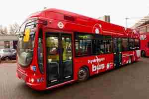 Hydrogen-powered London bus
