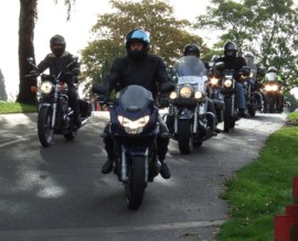 Riders in convoy