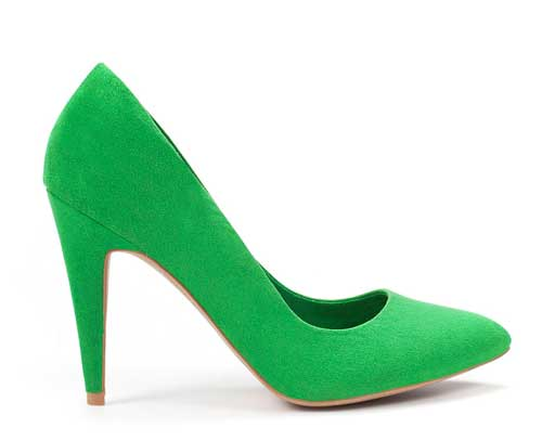 Zara green court shoes