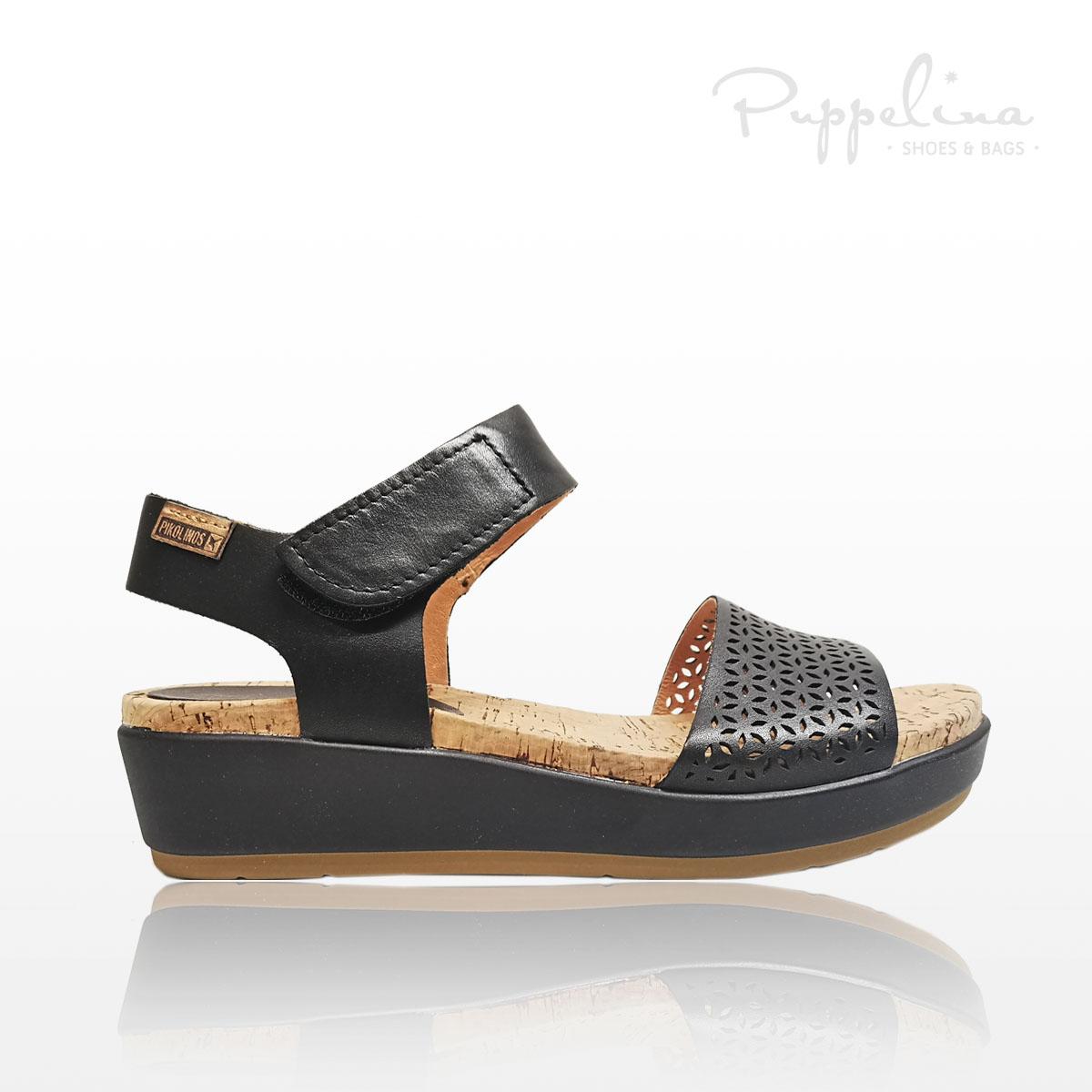 puppelina pikolinos sandalett svart