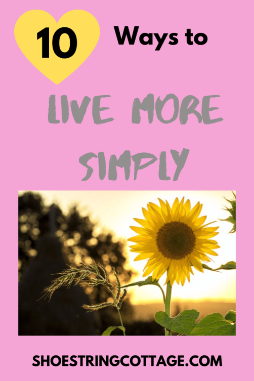 live more simply