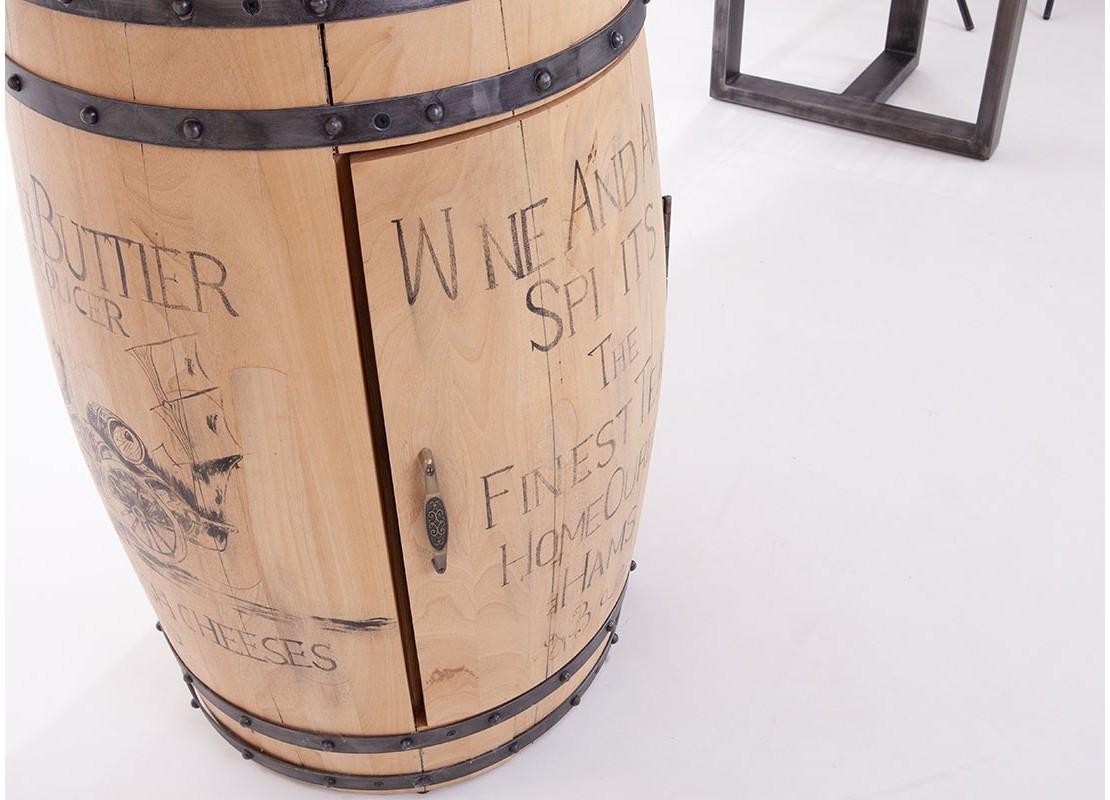 meuble bar avec pied en tonneau a vin