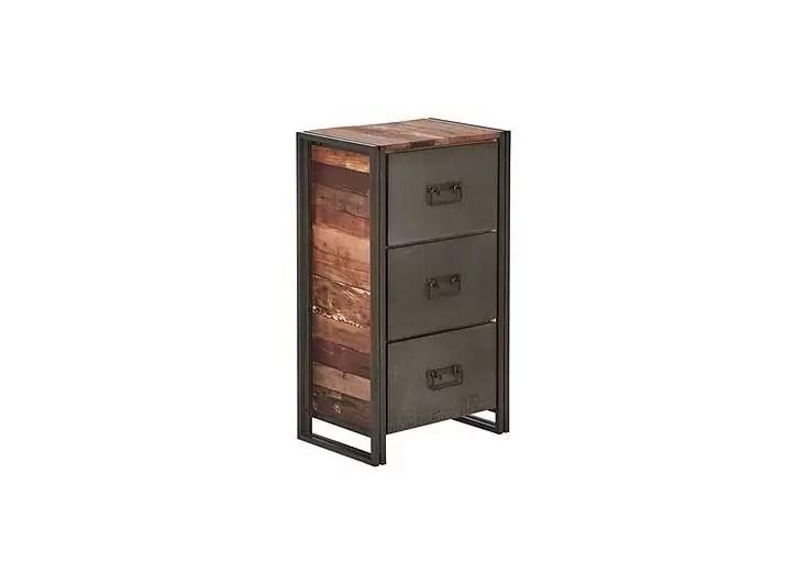 meuble de rangement industriel edito 3 tiroirs