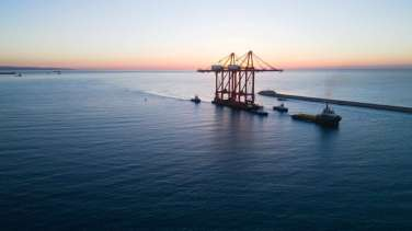 new bigger gantry cranes for Limassol