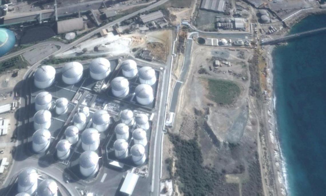 vttv oil terminal aerial photo