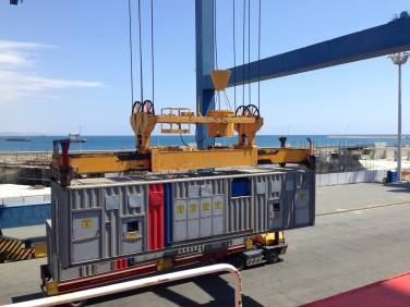 loading of mobile generators limassol port