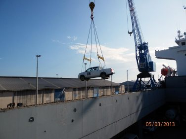 unloading of United Nations Vehicles