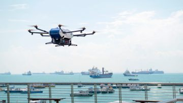 World's first commercial drone deliveries to vessels at anchorage tested