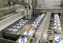 豆乳ヨーグルトの既存製造ライン(ポッカサッポロフード&ビバレッジ)