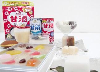 森永甘酒とオリジナル甘味(伊勢丹新宿店にて)