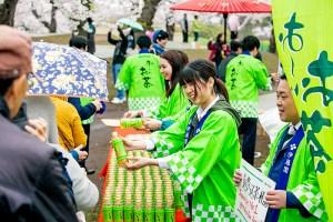 1日に五稜郭で開催されたイベント(「お~いお茶」令和元年記念ボトル 伊藤園)