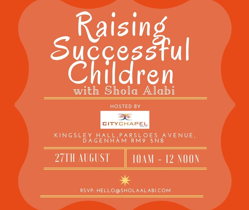 """Raising Successful Children: My first """"Official"""" Speaking Engagement"""