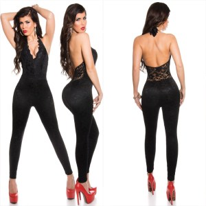 291c37cee345 Jumpsuit KouCla with sexy lace and zipper - Sexy ladies jumpsuits cheap