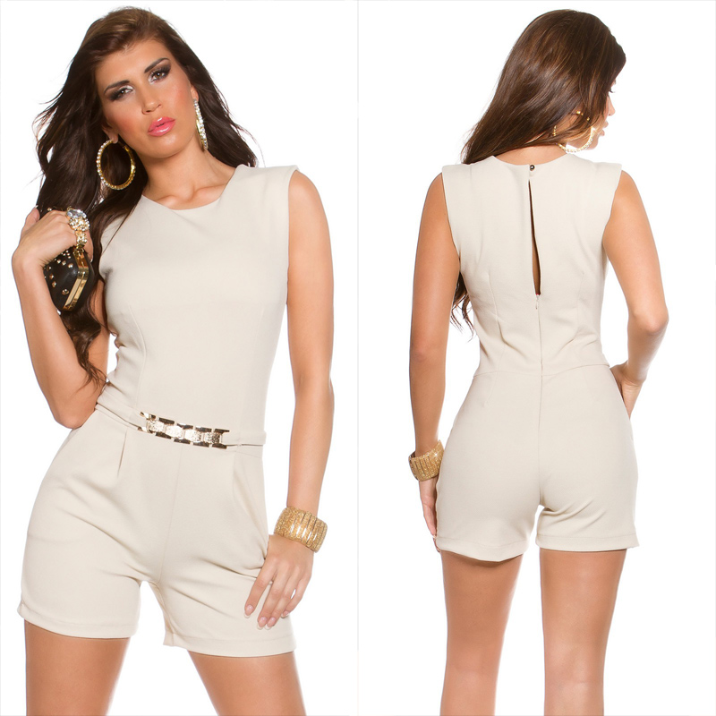 916792e487 KouCla playsuit Beige - Sexy jumpsuits for women
