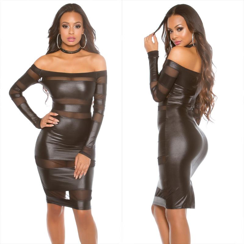 51f07ed8c5a5 KouCla wetlook dress Black - Nice sexy dresses cheap online