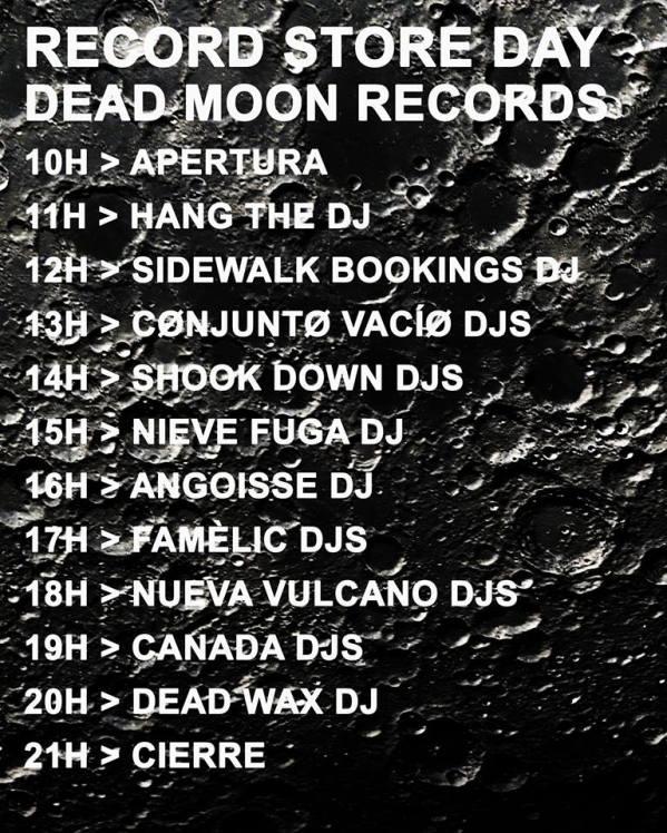 Cartel de Dead Moon Records