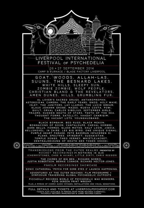 Cartel completo del festival de Liverpool